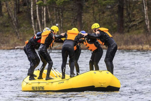 Company trip in Norway Rafting in Norway Bachelor party