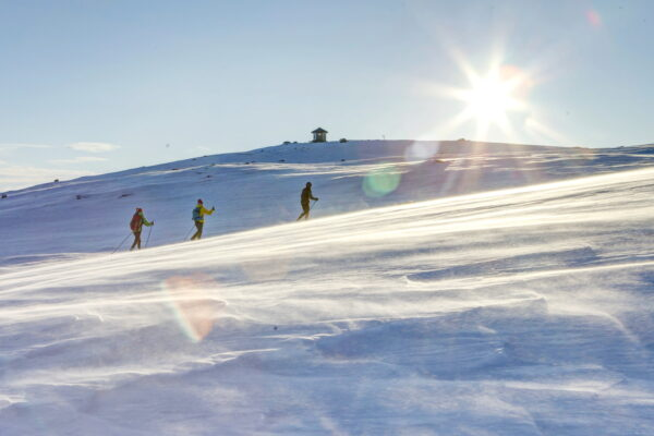 Cross Country Skiing Langren Winter in Norway vinter i Dagali privat Skisenter