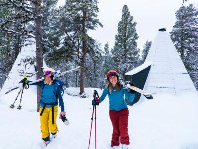 accommodation in lavvo overnatting i lavvo Family-friendly ski center in Norway