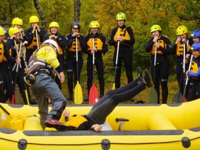 Company trip in Norway Rafting in Norway skoletur