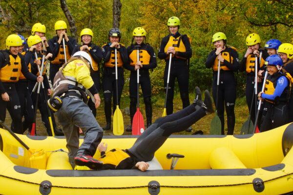 Norgesferie med rafting og friluftsliv, overnatting, badestamp, moro og kos i Norge