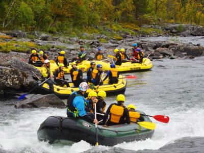 klassetur i Norge rafting