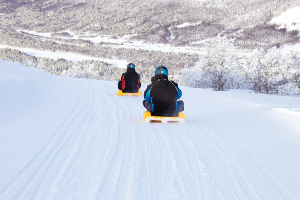 Sledge trail in Norway Kjelker i Norge