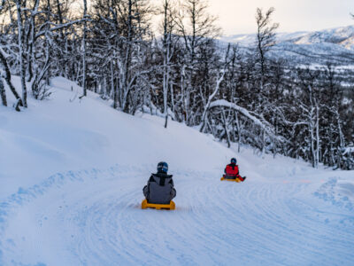 Sledding in Dagali is an adrenaline activity. Our custom built sleds can reach speeds up to 70 km/h.