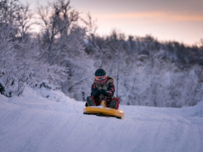 Sledding in Dagali: The longest sled run in Norway