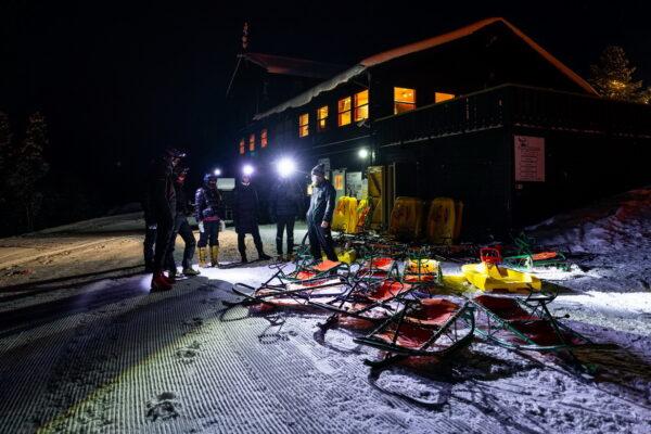 hytte til leie på fjellet Privat overnatting skisenter akebakke Dagali kveldsaking