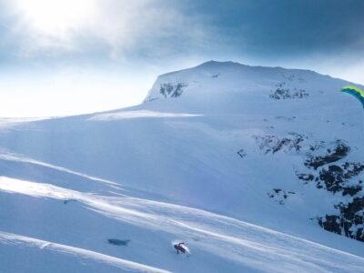 snowkite norway kiteskiing Geilo Hardangervidda