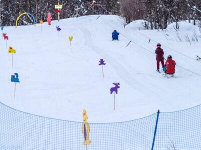 Alpinsenter og skisenter i Dagali, barneområdet med skitau og skiskole