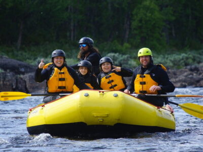 family on raft / Summer Adventure In Norway