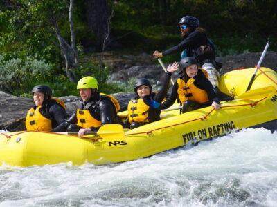 Family rafting in norway, rafting i Dagali