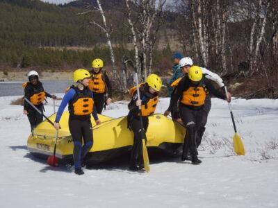 school trip rafting