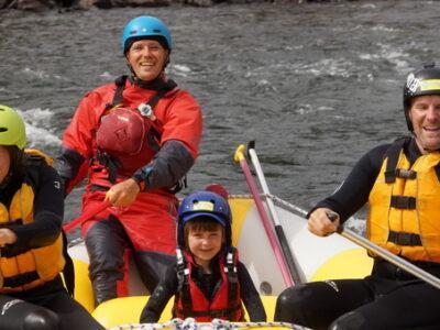 Familie rafting