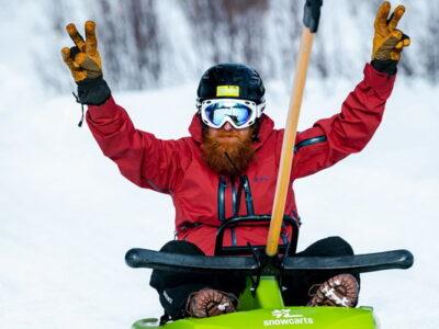 sledding - sledge - akebakke - aking - kjelker - kjelkekjøring - Dagali, Uvdal, Geilo, Hardangervidda, Finse - Lift-based Sledding