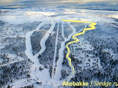 sled run Dagali, Geilo, Uvdal - akebakke i Norge - kjelkekjøring