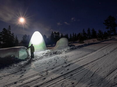 Look inside the ice igloo - Ice Village in Norway - i Norge - Polar Hen, by mjölk architekti