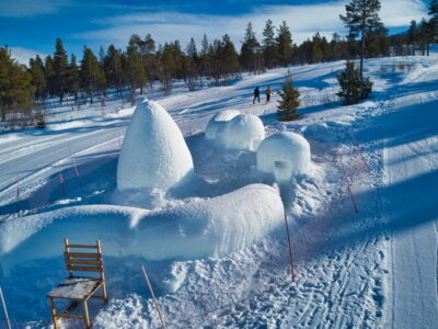 These are slightly different igloos with toboggan
