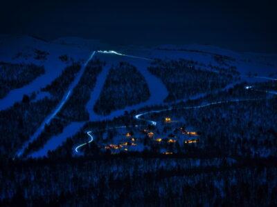 evening sledding Geilo, Dagali
